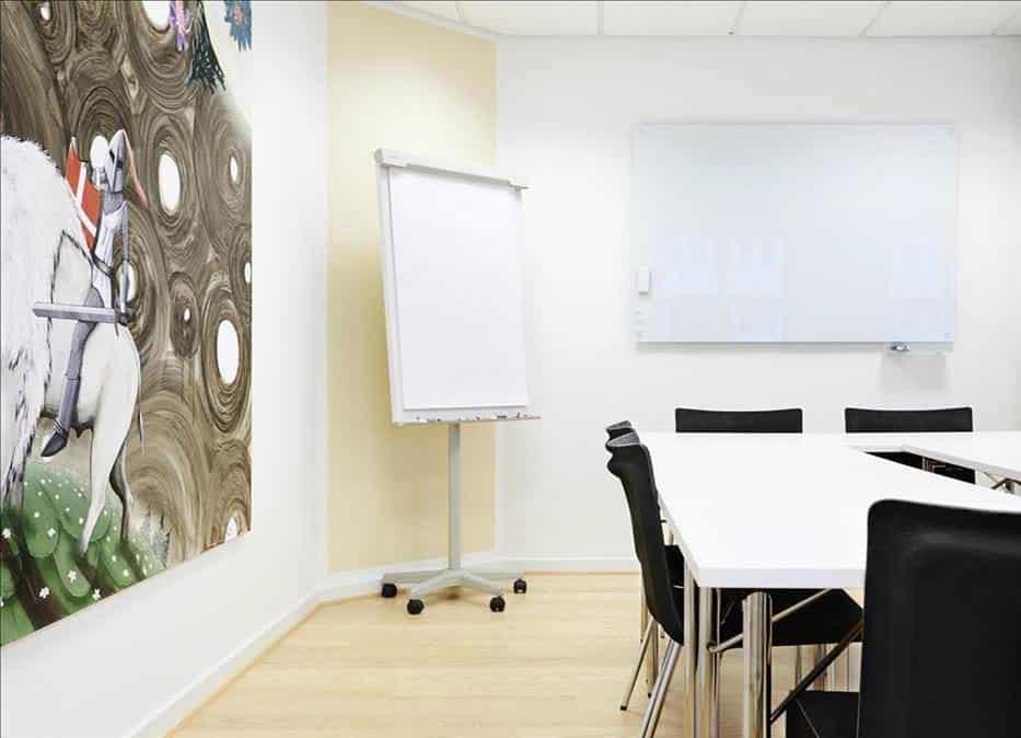 Flipover, whiteboard og alle andre fornødenheder findes i lokalerne hos MBK...