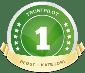 Vi er bedst i kategorien hos Trustpilot!