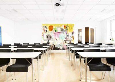 Alle lokaler hos MBK er forskelligt indrettet - alle med sjove, skæve og lækre detaljer...