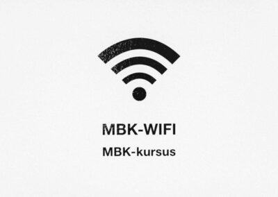 Vi tilbyder stærk WiFi forbindelse i hele huset...